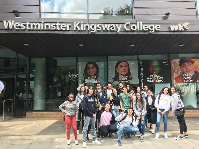 Portuguese students outside our Kings Cross centre